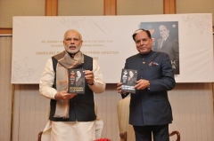 "PM Modi unveils ""The Z Factor,"" a book written by Shri Subhash Chandra"