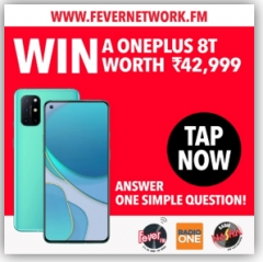 Fever Network offers an exclusive chance to win OnePlus 8T worth 42,999 on FeverNetwork.FM Web App