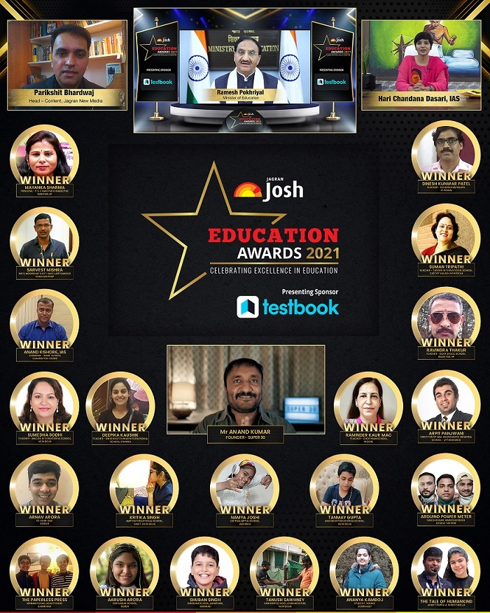 JagranJosh.com celebrated the 1st edition of Education Awards on March 25th 2021