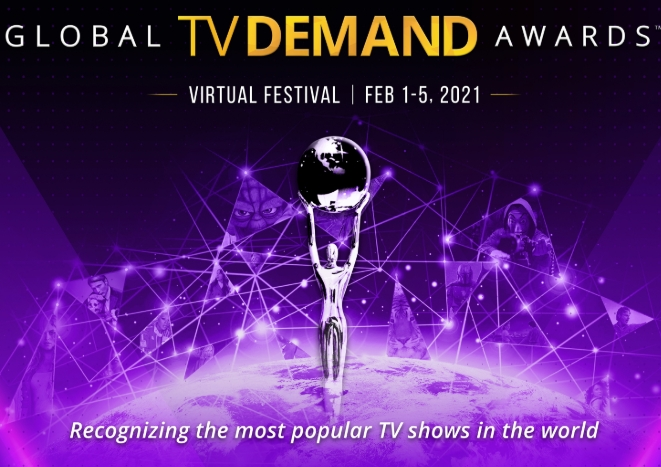 3rd annual Global TV Demand Awards from Parrot Analytics transformed to week-long virtual festival February 1-5, 2021