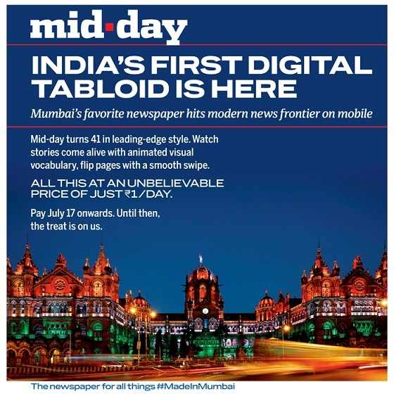 Mid-day brings you India's first Interactive Digital Tabloid