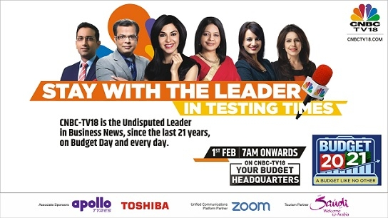 CNBC-TV18 curates a special programming line-up for the upcoming Union Budget 2021