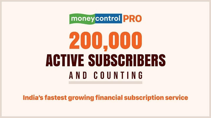 Moneycontrol Pro trail blazes with 2 lakh paid subscribers