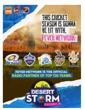 Fever FM creates storm with Top T20 Teams this Cricketing Season