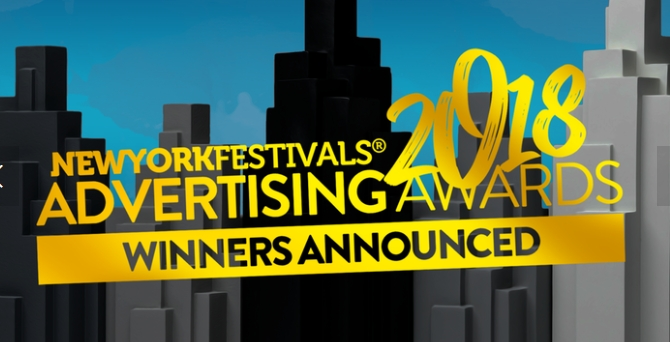 """2018  New York Festivals Advertising Awards Honors """"Fearless Girl"""" McCann New York with Best of Show and 3 Grand Trophies"""