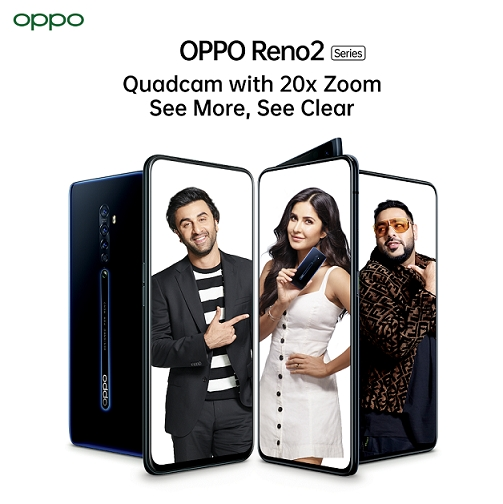 OPPO ropes in Ranbir Kapoor, Katrina Kaif and Badshah for its Reno Series Campaign