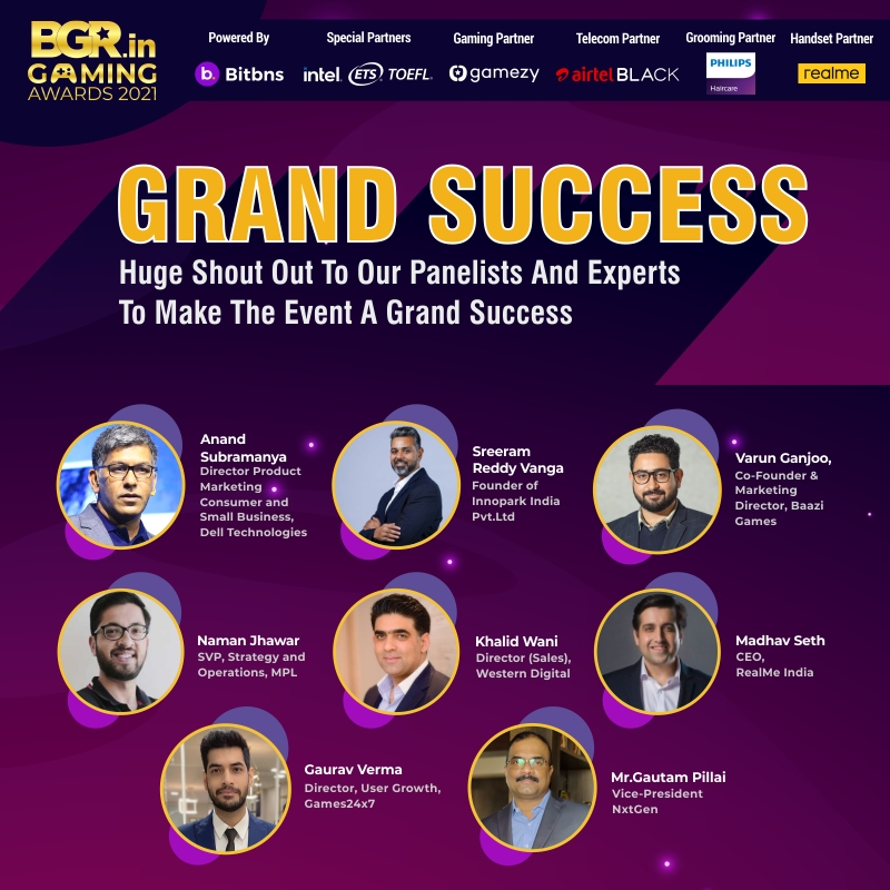 Zee Digital Organized The First Edition of BGR Gaming Awards 2021
