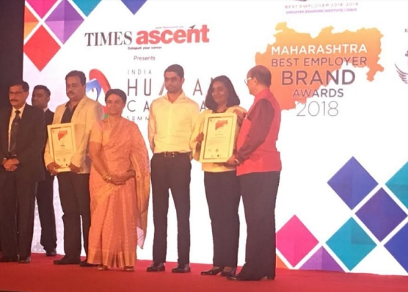 Volkswagen Group Sales India Pvt. Ltd. bags the Maharashtra Best Employer Brand Award 2018