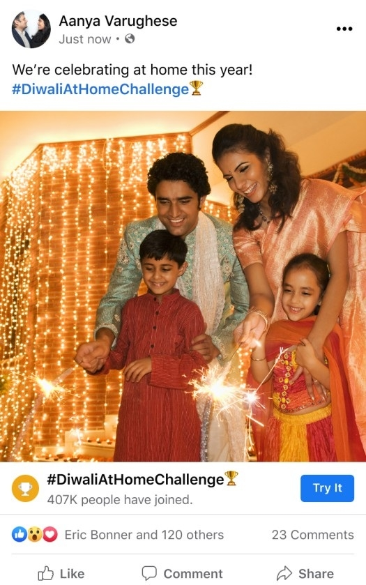 Facebook launches a bundle of features to add a sparkle to your Diwali celebrations