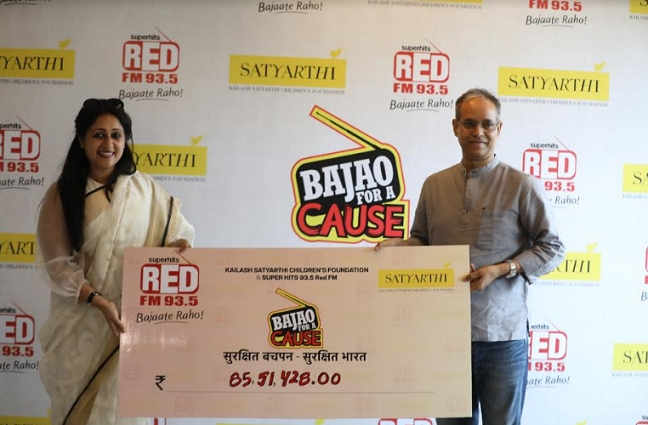 93.5 RED FM raises money worth INR 85.51lacs for the 'Bachpan Bachao Aandolan'