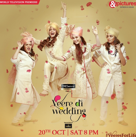 &pictures presents the World Television Premiere of Veere Di Wedding