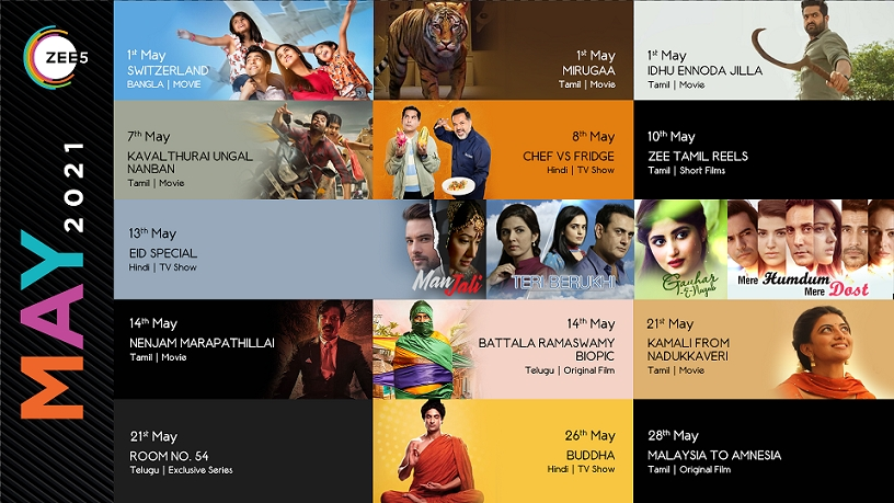 ZEE5 Global announces a slate of new releases and festival Specials in its May content line-up