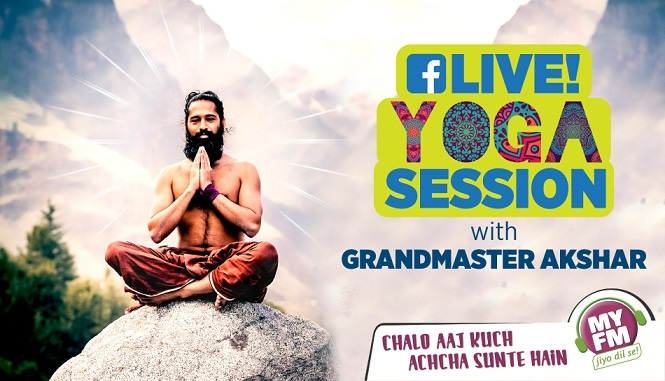 MY FM's Live Yoga Sessions with Grandmaster Akshar: Beating The Blues Digitally